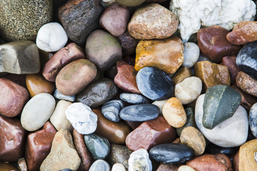 Background of marine pebbles