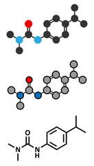 Isoproturon herbicide molecule.