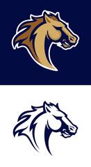 Horse head sport logotype