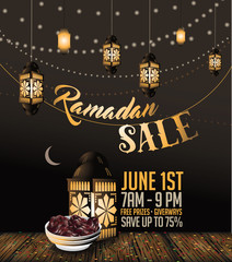 Ramadan sale background with copy space. EPS 10 vector.