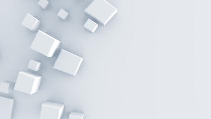 White geometric shape 3D render
