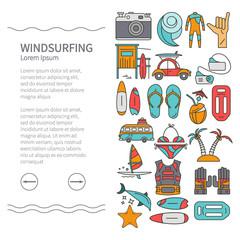 Linear Design Windsurfing brochure template