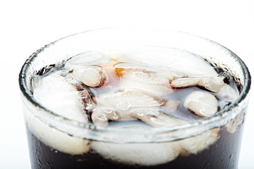 close up of ice drink