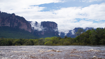 View from the Lake at Canaima National Park