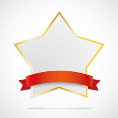 Goldener Stern mit rotem Band