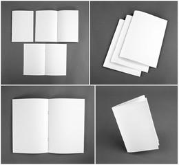 Set of blank magazine, catalog, brochure, magazines, book