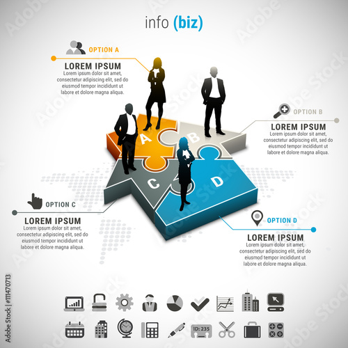Business infographic. File contains text editable AI and PSD ...