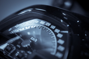 Motorcycle speedometer detail