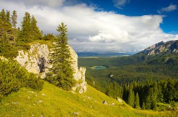 View Towards Crno Jezero Lake, Durmitor, Montenegro