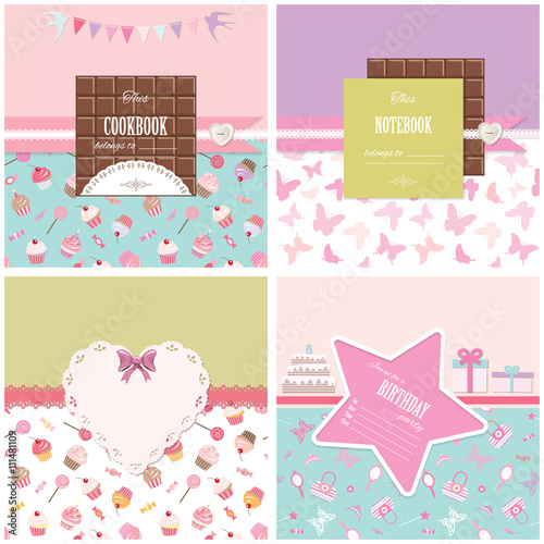 cute templates for birthday scrapbook baby shower design stock
