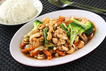 Chicken and Cashew Stir Fry