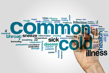 Common cold word cloud