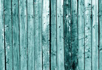 Cyan wooden fence texture.