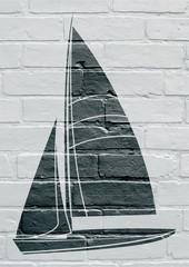 Art urbain; voilier