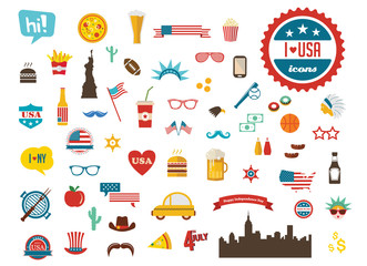 American design elements. happy independence day of America