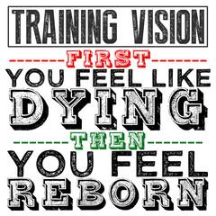 Training Vision Bold Text Design Phrase