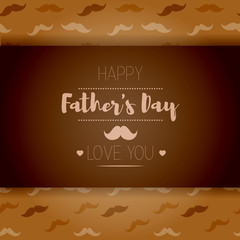 Happy fathers day. Hipster style. Card with mustache
