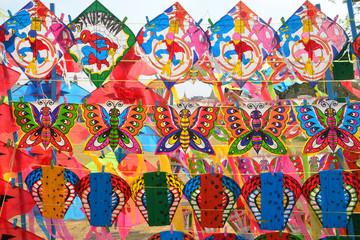 Seamless wallpaper with kite