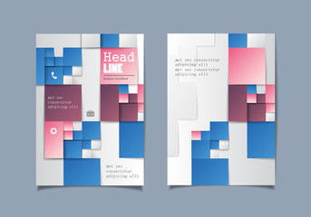 Cover Design - Vector Illustration, Graphic Design. Modern Concept