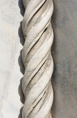 """Marble Rope Molding: A finely carved """"rope twist molding"""" in Marble from the Duomo di Como in Como, Italy,"""