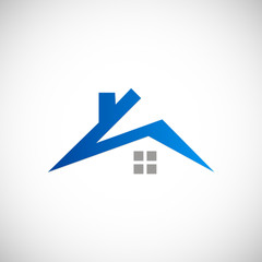 roof abstract house vector logo