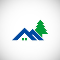 house realty hill vector logo