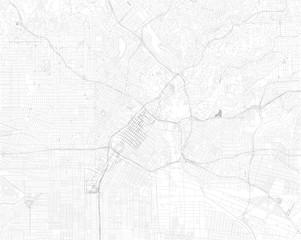 Mappa di Los Angeles, vista satellitare, strade e vie, Usa