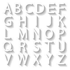 Set letters, vector illustration.