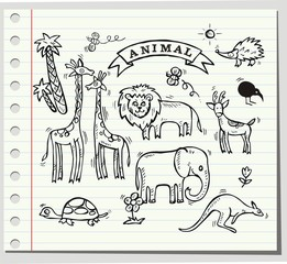 Cute animal in vector