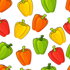 pattern of multicolored pepper