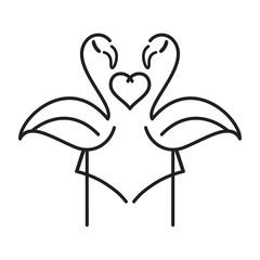 flamingos in love icon