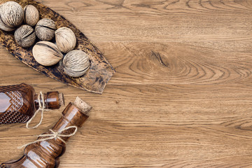 spa decoration item on wooden background