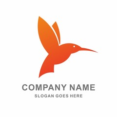 Bird Flying Vector Logo Template