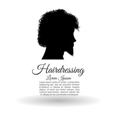 Hair salon design. Hairdressing icon. , vector silhouette style