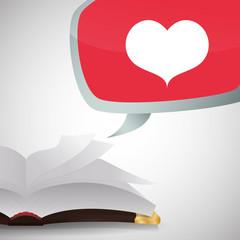 eBook  design. reading icon. White background