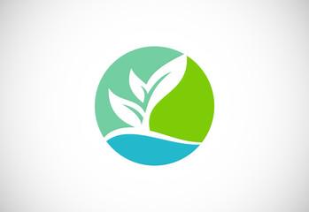 ecology green organic logo
