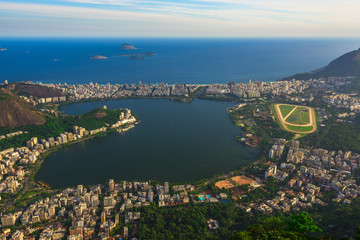 Lagoa Rodrigo de Freitas, Ipanema and Leblon in Rio de Janeiro, Brazil