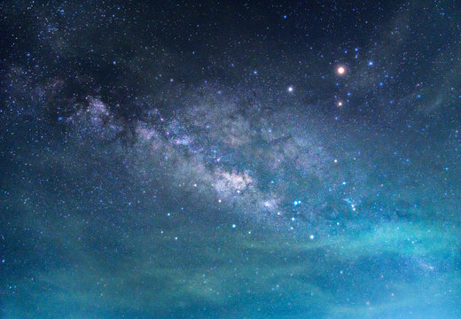 Detail of Milky Way Galaxy ,Long exposure photograph.