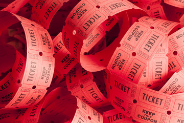 Messy Ticket Pile
