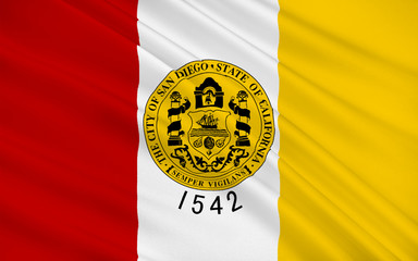 Flag of San Diego City, California, USA