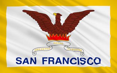 Flag of San Francisco, California, USA