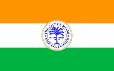 Flag of Miami city in Florida, USA