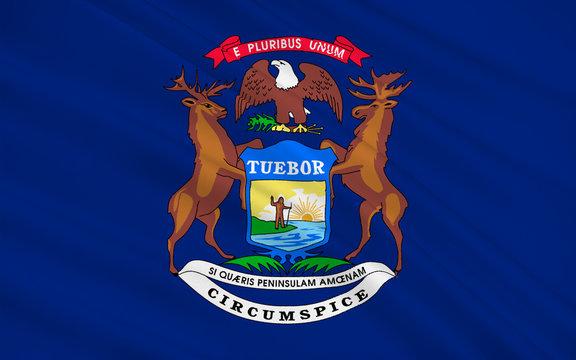 Flag of Michigan, USA