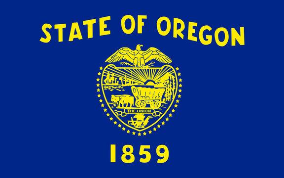 Flag of Oregon, USA