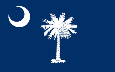 Flag of South Carolina, USA