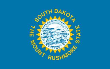 Flag of South Dakota, USA