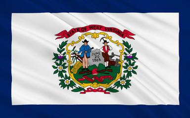 Flag of West Virginia, USA