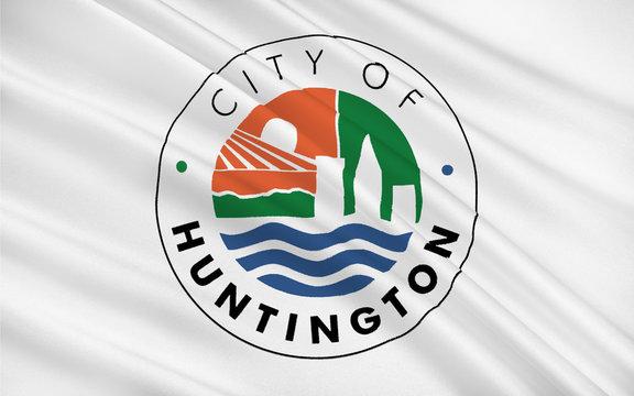 Flag of Huntington in West Virginia, USA
