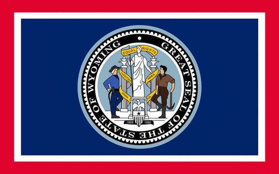 Flag of Wyoming, USA