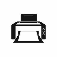 Printer icon in simple style